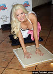 Holly Madison Assumes the Position