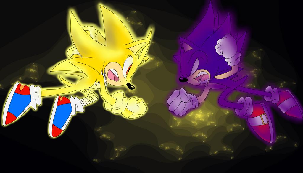 Super Rage vs. Dark Sonic by StickySpree on DeviantArt