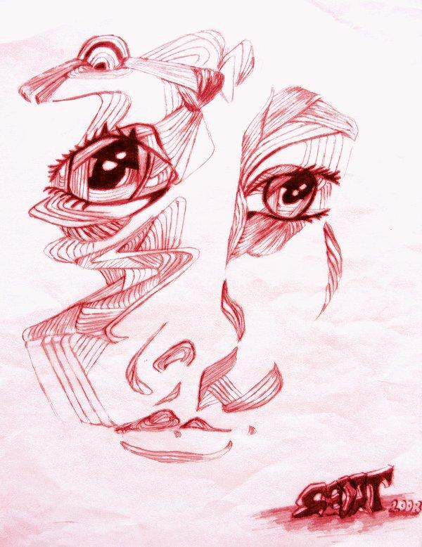 Line Lady Red Version by XxTeAcHxXAnGeL