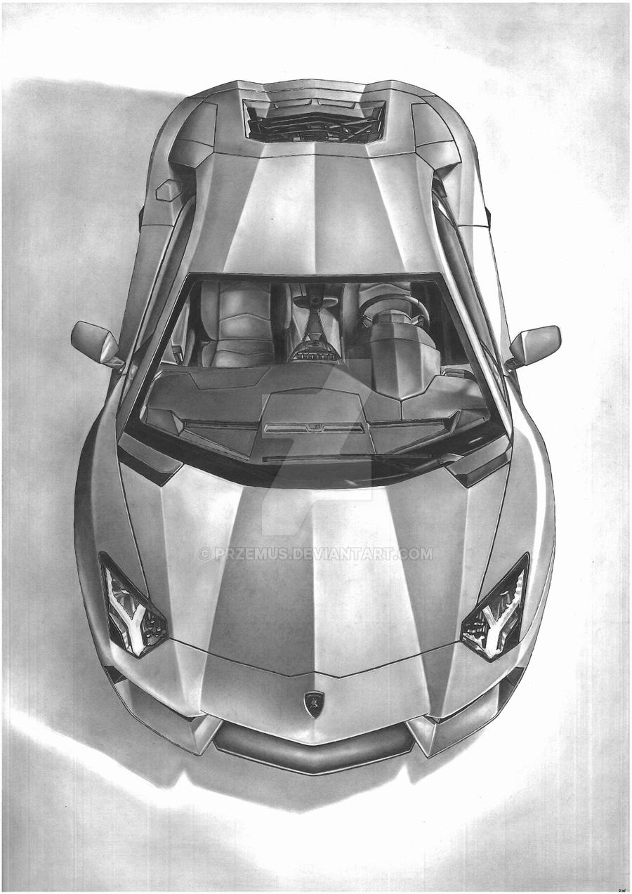 2012 lamborghini aventador by przemus watch traditional art drawings