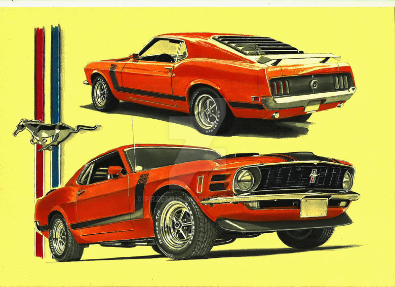 1970 ford mustang boss 302 by przemus on deviantart. Black Bedroom Furniture Sets. Home Design Ideas