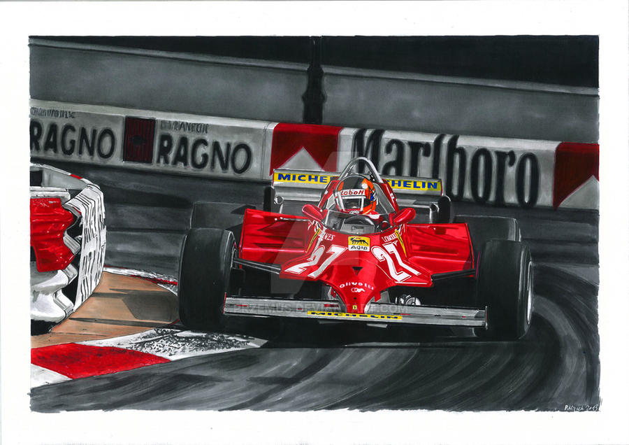 Gilles Villeneuve  Ferrari 1981 by przemus
