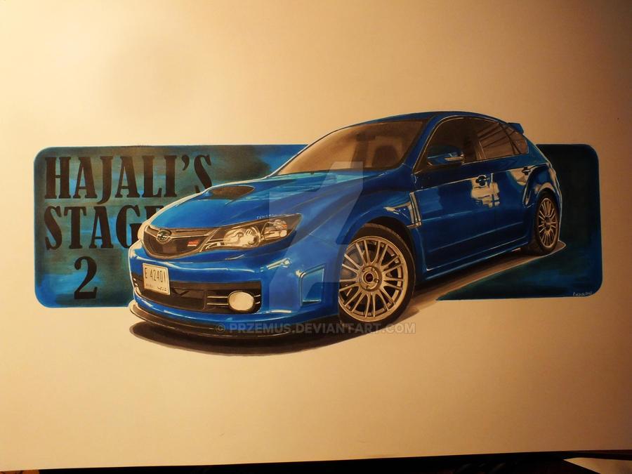 2010 Subaru Impreza WRX STi hatchback by przemus