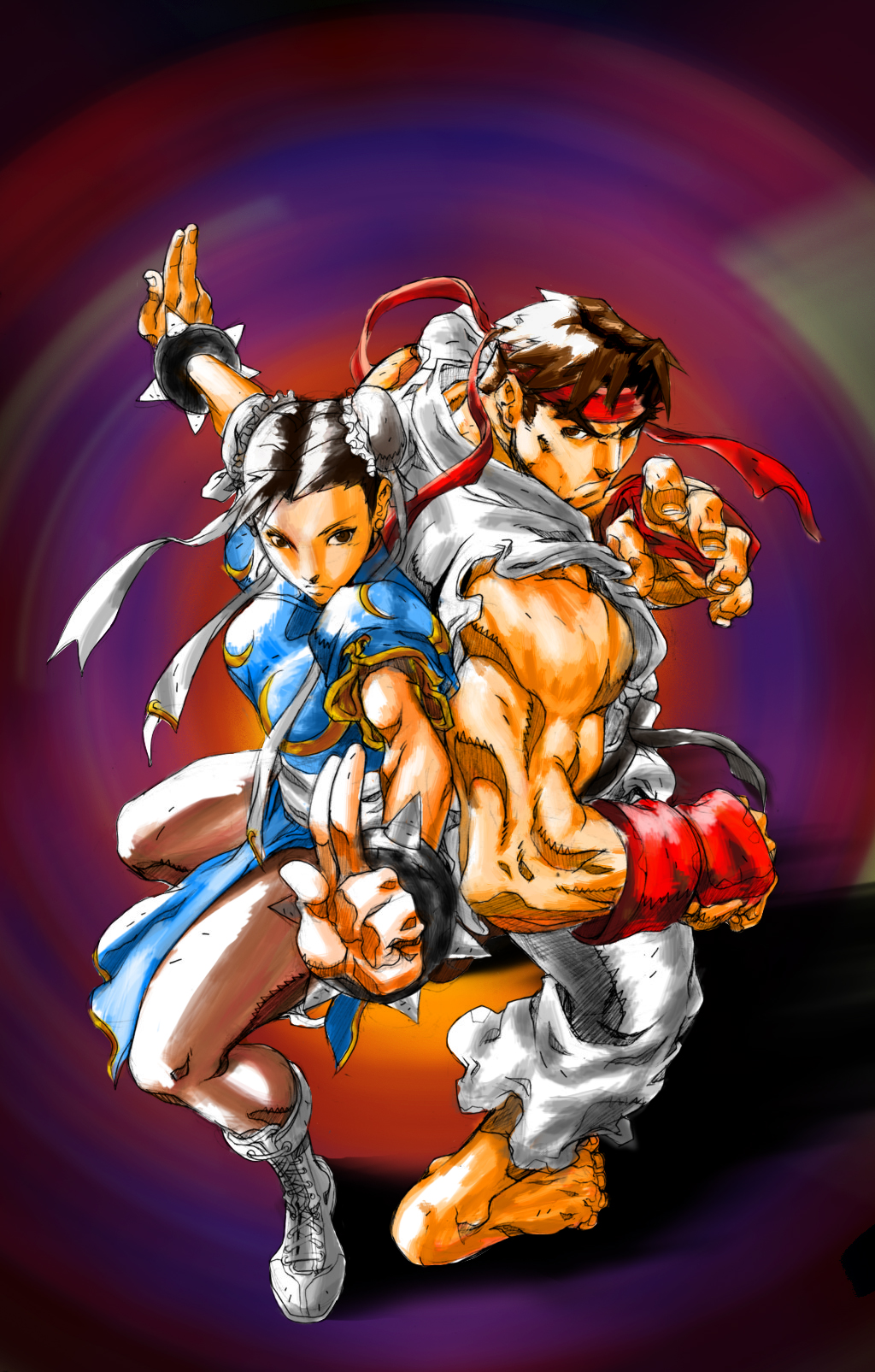SFII - Ryu and Chun Li Final by KenshinGumi559