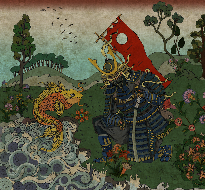 samurai and the fish