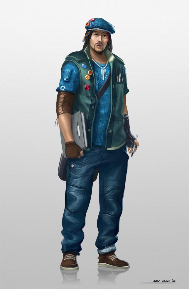 Field Artist character design by SamYangArt