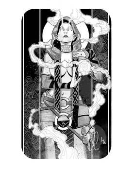 Elf witch tarot card