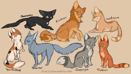 Warrior Cats Concepts sketch by FoxifyArt