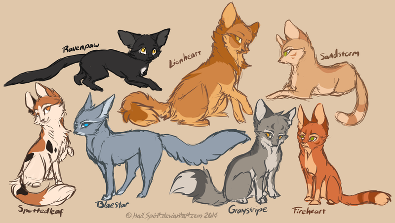 Real Art Design Group : Warrior cats concepts sketch by hailspirit on deviantart