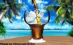 Glass of Coca-Cola Real Flow Cinema 4D [1]