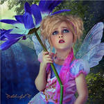 Little Fairy with a Flower