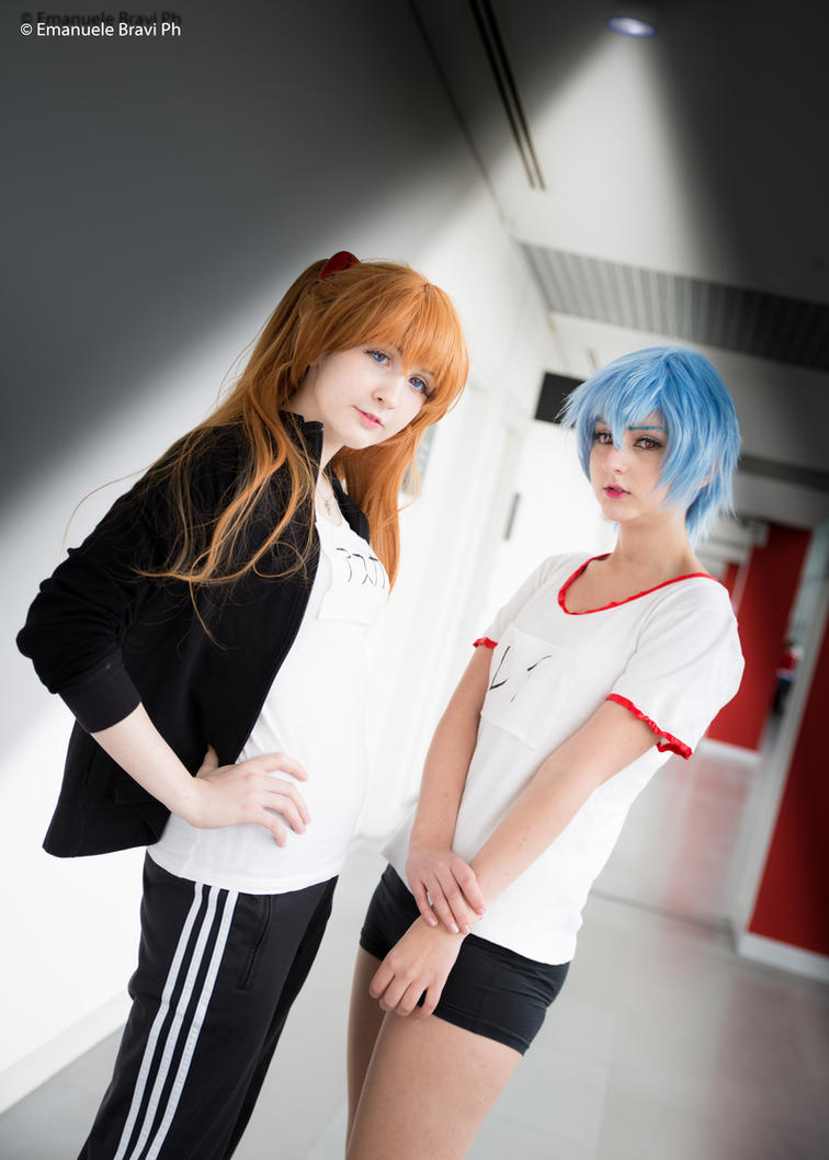 Asuka Soryu Langley and Rei Ayanami by KyokoCherry