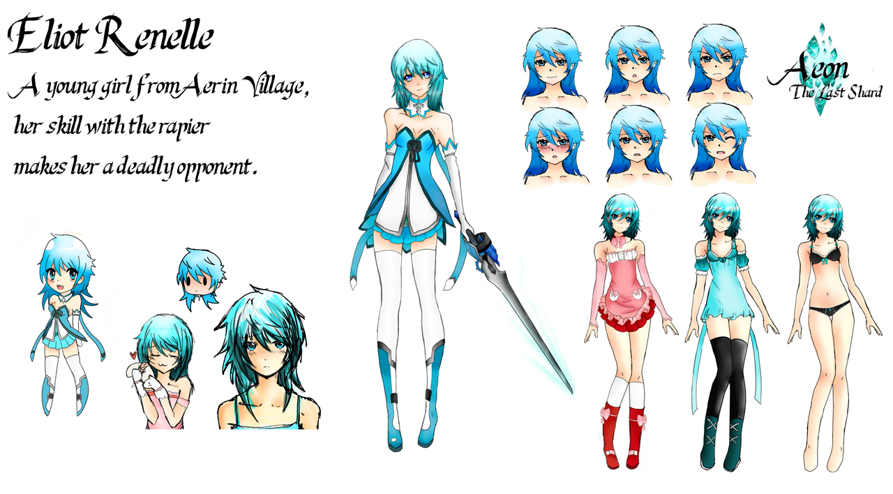 Anime Character Design Maker : Eliot renelle character sheet by aerinboy on deviantart