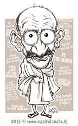 Gandhi Caricature by marisangoea