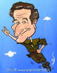 Robin Williams as Peter Pan (Caricature) by marisangoea