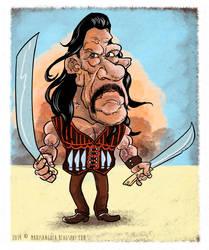 Danny Trejo - Machete Caricature by marisangoea