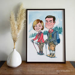 Caricature gift for a couple
