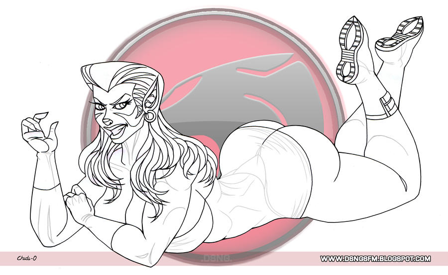Sexy Pumyra fanart - Thundercats cartoon by DSNG