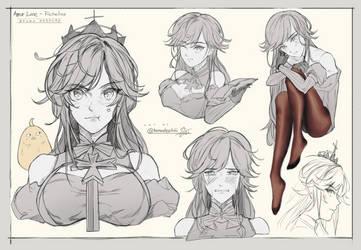 Richelieu practice sketches!