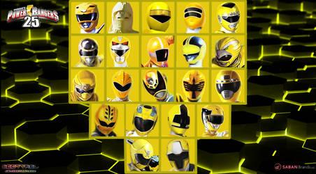 25th anniversary of Yellow rangers by scottasl