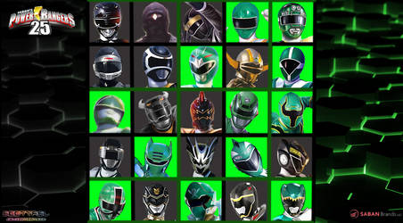25th Anniversary Of Black and Green Rangers