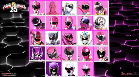 25th Anniversary Of Pink White  and Purple Rangers