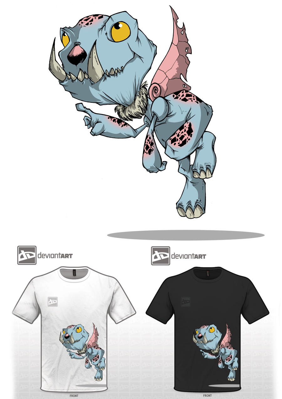 Cute Monster Tee by jUANy