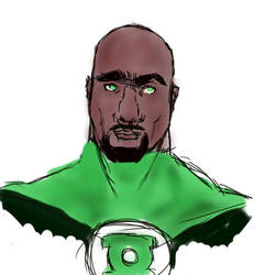 John Stewart bust by Amani-the-Wise