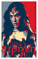 Gal Gadot Wonder Woman Peace by Amani-the-Wise