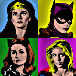 Retro Heroines Pop Art by Amani-the-Wise