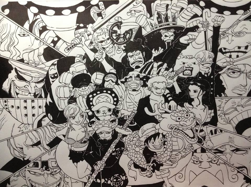 One Piece black n' white by VA2O