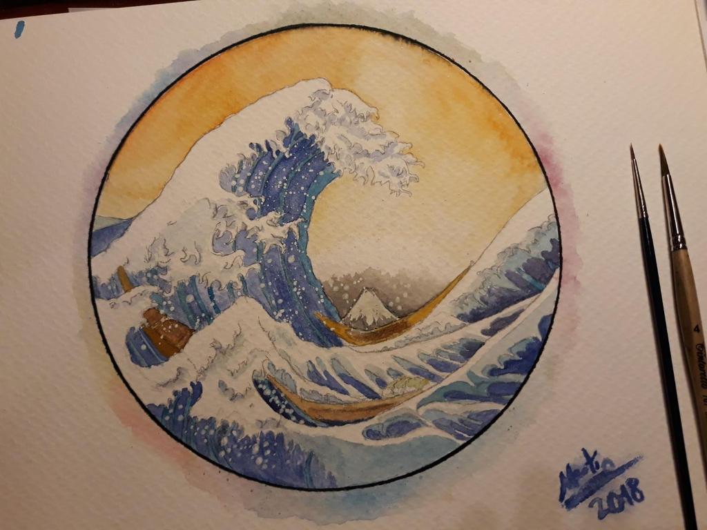 La Gran Ola de Kanagawa (acuarelas) by Martink7