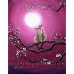Siamese Cats in Spring Blossom