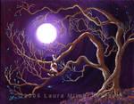 Calico Cat in Haunted Tree