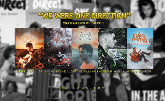 WE WERE ONE DIRECTION (Wattpad Covers PSD Pack)