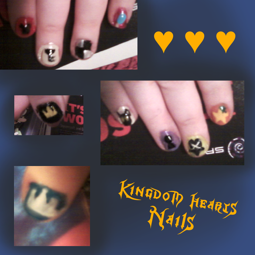 Kingdom Hearts Nails by lex-TC on DeviantArt