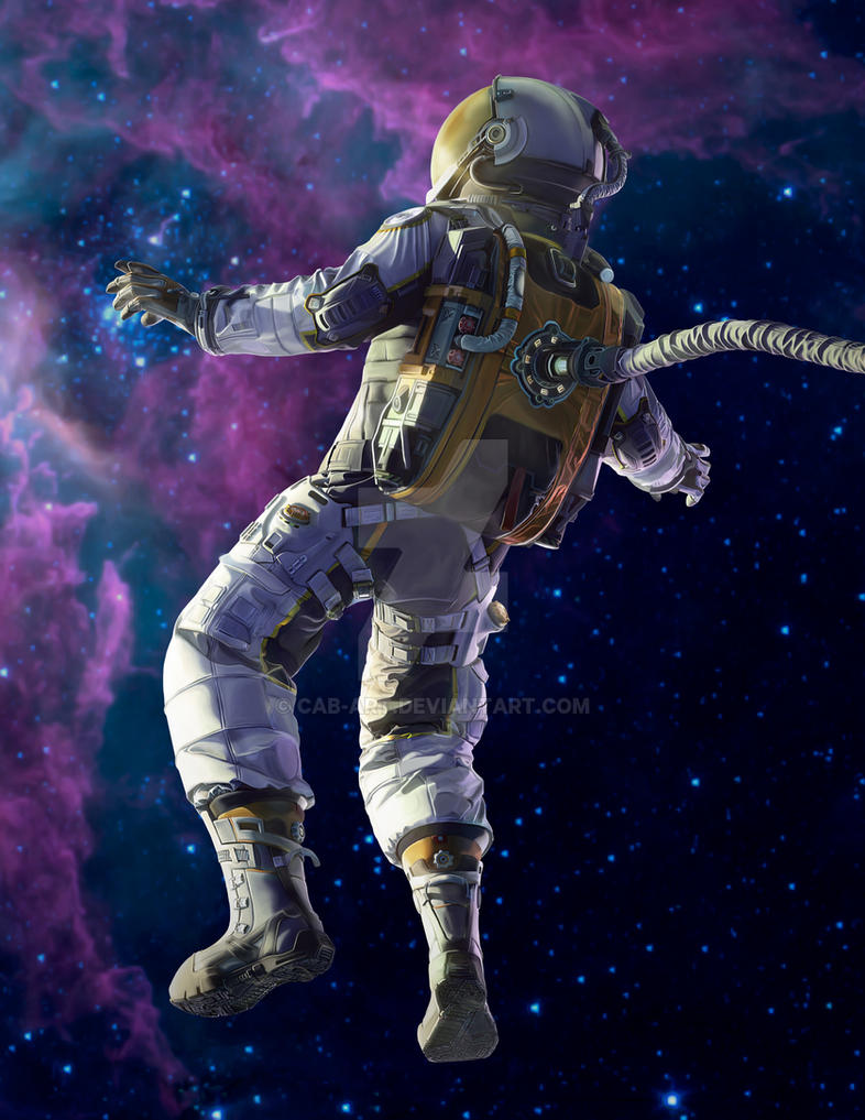 astronaut in space painting -#main
