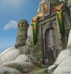 Grim Batol Restored - Main Gate by Aelston