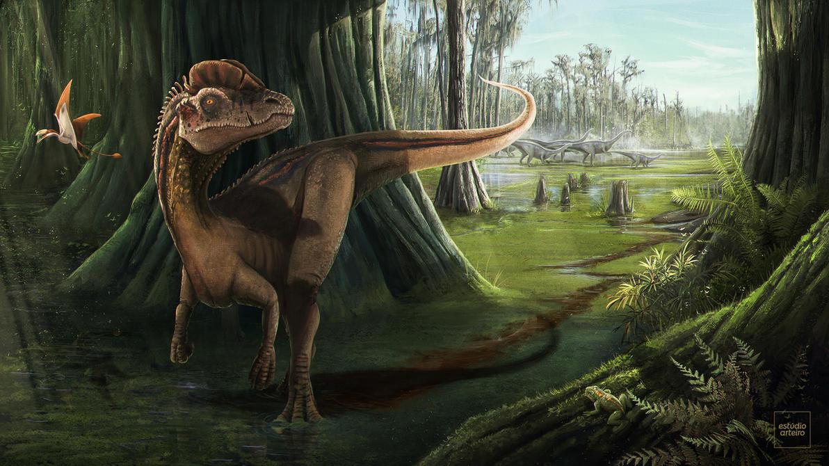 Primal Jurassic Landscape by WillFx