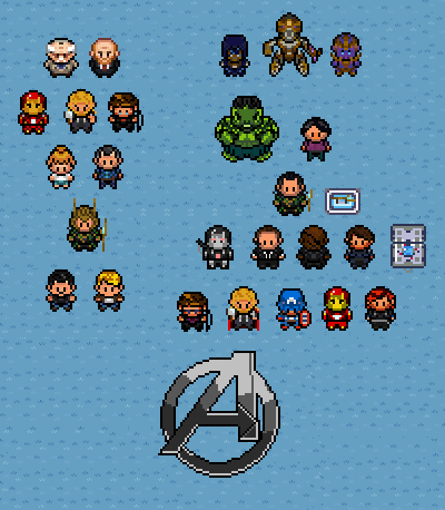 The avengers classis rpg video game version 2 by superdude001 on