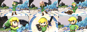 Young Link and Toon Link Swapped Victory Poses