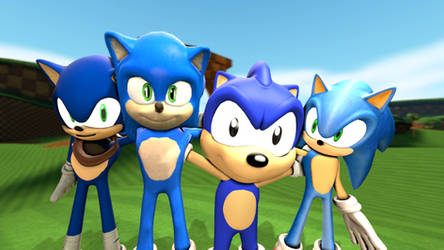 Four Sonics hang out [Requested]
