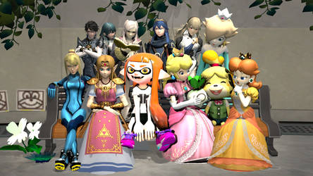Smash Girls hanging out [Requested]