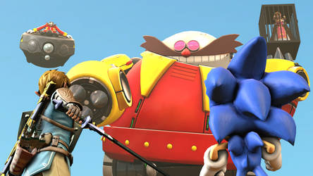 [REQUESTED] Sonic And Link Vs Eggman to save Zelda