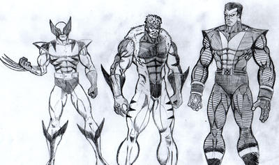 X-men Character sketch by Hafique84