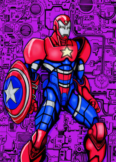 Marvel Iron Patriot color by Hafique84