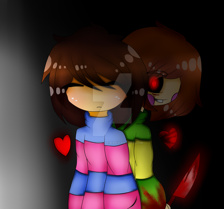 Chara And Frisk by WolfytheWolf54321 on DeviantArt