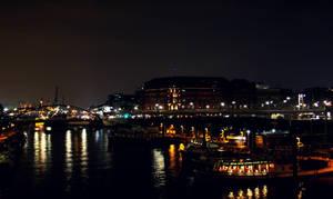 Hamburg at Night by Mischah
