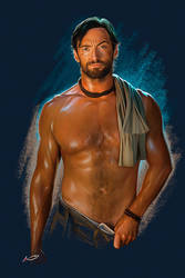 Shirtless Drover, Hugh Jackman by irudd