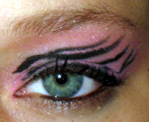 Pink Zebra Print Eye Design by watermelonz